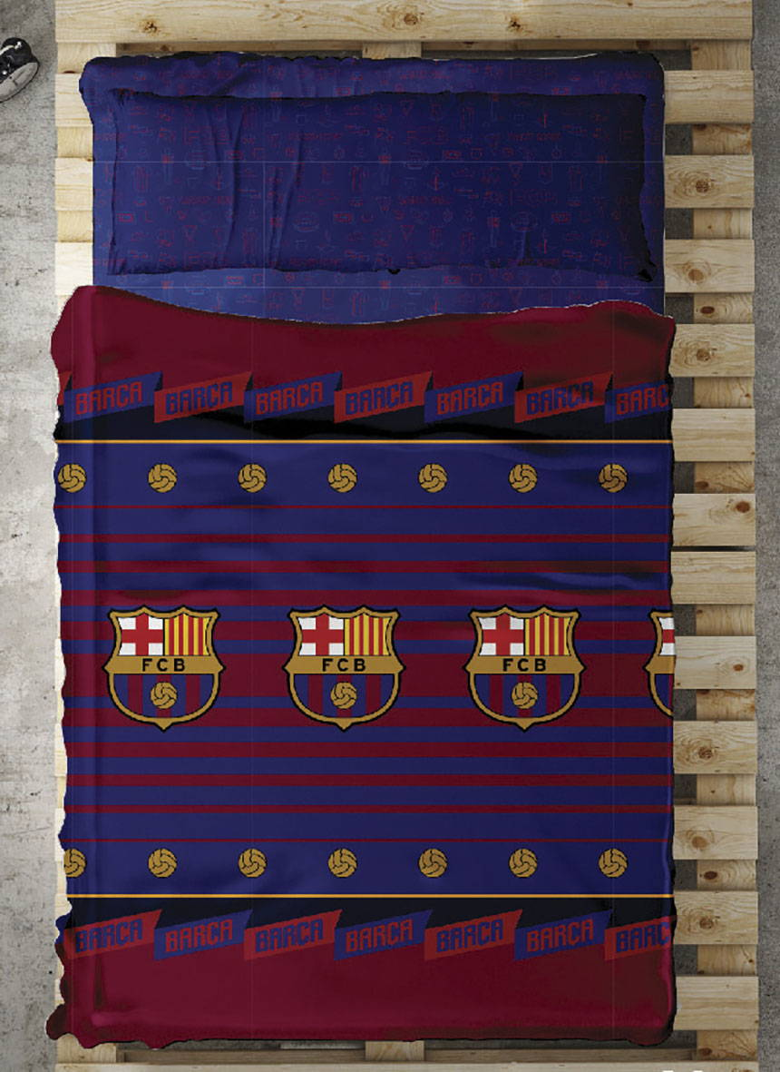 Juego de Sábanas del FC Barcelona. Producto con licencia Oficial.